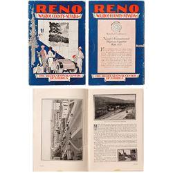 Reno, Washoe County, Nevada Promo Booklet, c.1927