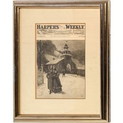 Harper's Weekly Framed Cover, 1887