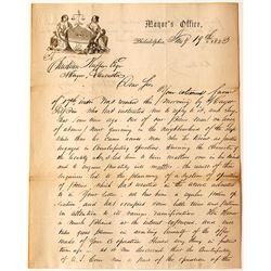 1853 Letter About Police Breaking Up a Counterfeiting Ring