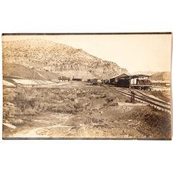 Rare Real Photo Postcard of Railroad Depot at Dragon, Utah (Gilsonite Ghost Town)