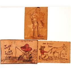 Utah Postcards: Three Leather