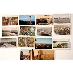 Seattle Aerial & Birds-Eye Postcards