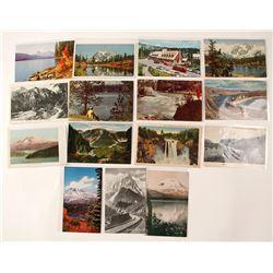 Mt. Rainer & Other Washington Scenery Postcards