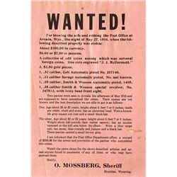 WANTED! Poster, Sheridan, Wyoming 1916
