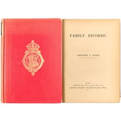"""Family Records"" by Ashworth P Burke: a Guide to Your English Ancestry"