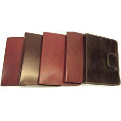 Five Leather Folio Holders