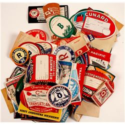 Collection of Colorful Ocean liner Shipping Labels