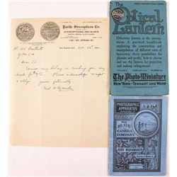 Early Photography Letter & Pamphlets