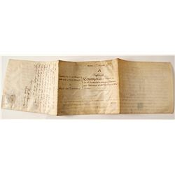 1852 South Australia Indenture for British Navy Captain