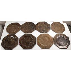 8 Hexagonal Fossil Plates