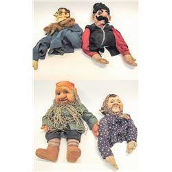 Four Political Puppets from Katherina Bekleshova, c1940's