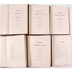 Kentucky Geological Survey Hardcovers 1913-1915 (6)