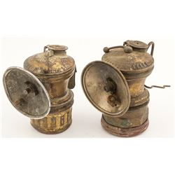 A Pair of Miner Carbide Lamps