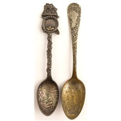 Two spoons: Nevada gold panning and 1898 Mining Fair