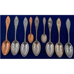 Nine Same Design Mining Spoons