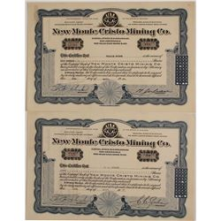 Two C.C. Julian Signed Mining Stock Certificates