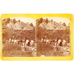 Extra Rare Stereoview of Miners in Alpine County, CA