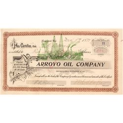 Arroyo Oil Co. Stock Certificate, 1899