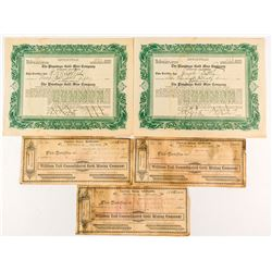William Tell and Plumbago Stock Certificates, Sierra City