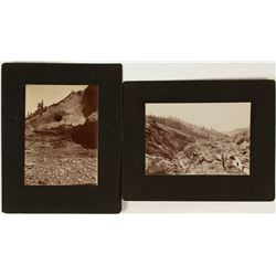 Two Hydraulic Mining Photographs
