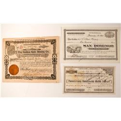 California Mining Certificates (3)