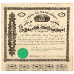 Reliance Gold & Silver Mining Company Bond, 1867, Black Hawk