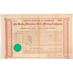 Rocky Mountain Gold Mining Company Mortgage Bond, 1864
