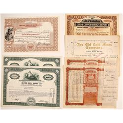 Colorado Mining Certificates (7)