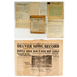 Colorado Mining Letters & Ephemera