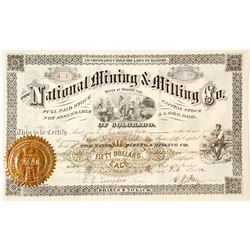 National Mining & Milling Company of Colorado Stock Certificate