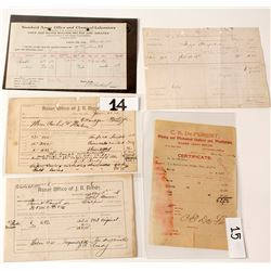 Five Colorado Assay Documents