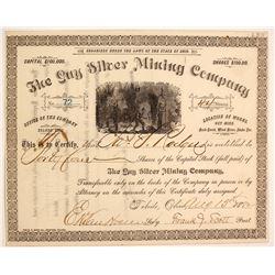 Guy Silver Mining Stock Certificate, Idaho Territory
