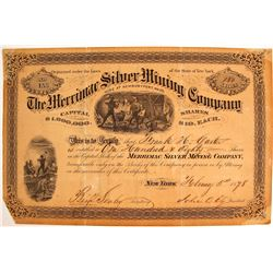 Merrimac Silver Mining Stock Certificate