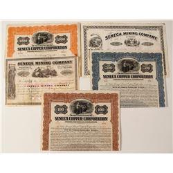 Seneca Mining Stock Certificate & Bond Collection