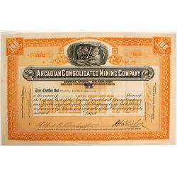 Arcadian Consolidated Mining Co. Stock Certificate