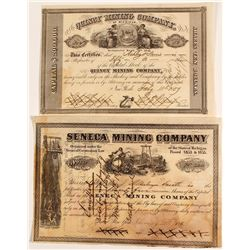 Two Early Michigan Mining Stock Certificates