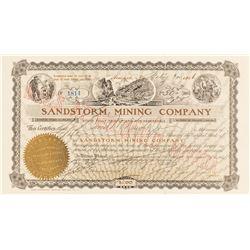 Sandstorm Mining Co. Stock Certificate