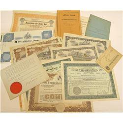 Goldfield Mining Ephemera & Stock Certificates