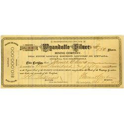 Wyandotte Silver Mining Company Stock Certificate