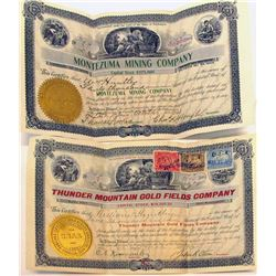 Rare Washington Mining Stock Certificates