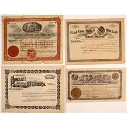 Washington Mining Certificates (4)