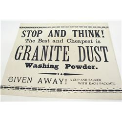 Amusing Granite Dust Broadside