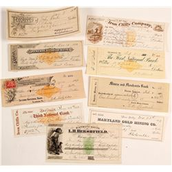 Assortment of Mining Checks and Receipt (9)