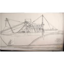 6 Copies of a Natoma No. 4 Dredge Drawing