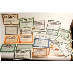 Huge Uranium Mining Stock Certificate Collection