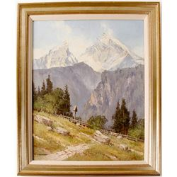 Mountain Scene by Ernst Carl Walter Retzlaff