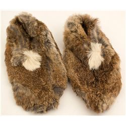Pair of Fur Booties, Possibly Inuit