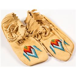 Beaded Moccasins by Agnes Kenmille