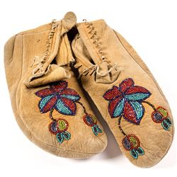 Floral Beaded Moccasins