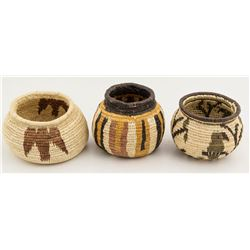 Three Wounaan / Panamanian Baskets